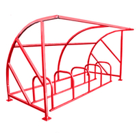 Curved Bike Shelter Powder Coated