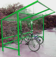 Bike Shelter Powder Coated
