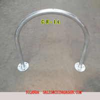 Metal Ground-Mounted Bike Rack Cr14