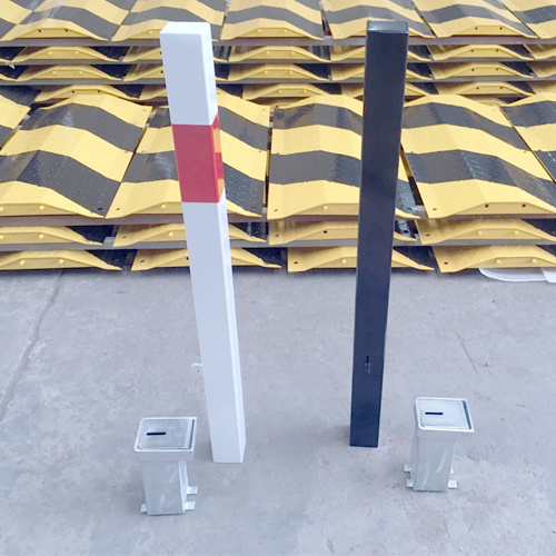 Metal Removable Bollard Rb12 White & Black